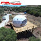 2/3 white color luxury glamping hotel dome tents for 2 people