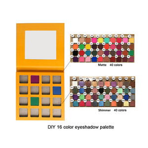 Make-up kosmetik DIY 16 farben private Label pigmentierte lidschatten palette