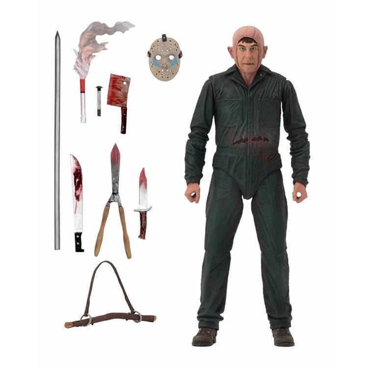 (Hot selling) Nieuwste Neca 7inch Jason Roy Brandwonden Action Figure Friday The 13th Party, hoge Kwaliteit 3D Jason PVC figuur Voor Geschenken