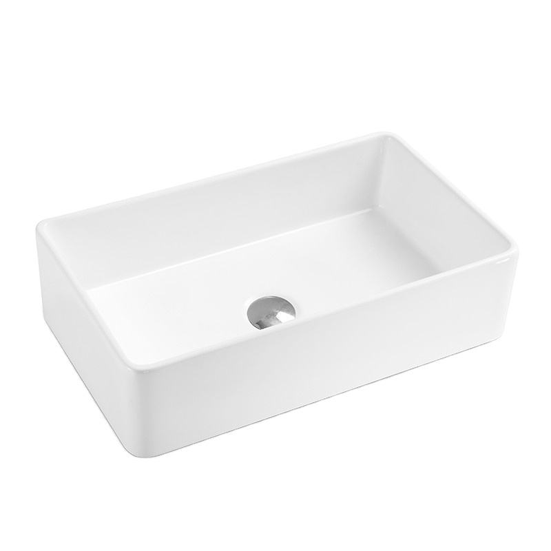 Aquacubic single bowl white undermount Ceramic Kitchen Sink