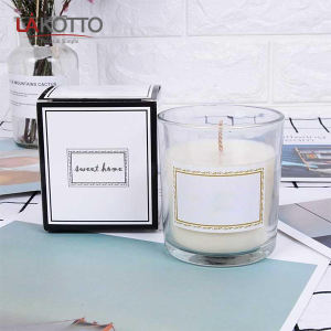 Wholesale Luxury Custom Decorative Muti-colored Transparent Glass Jar Scented Candle Empty Glass Candle Jar