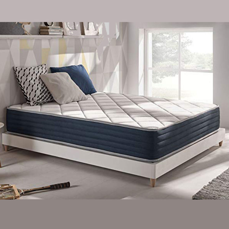 Double side usage Custom Factory Supply King Queen Full Size bed pocket spring mattress in a box with bamboo knitted fabric