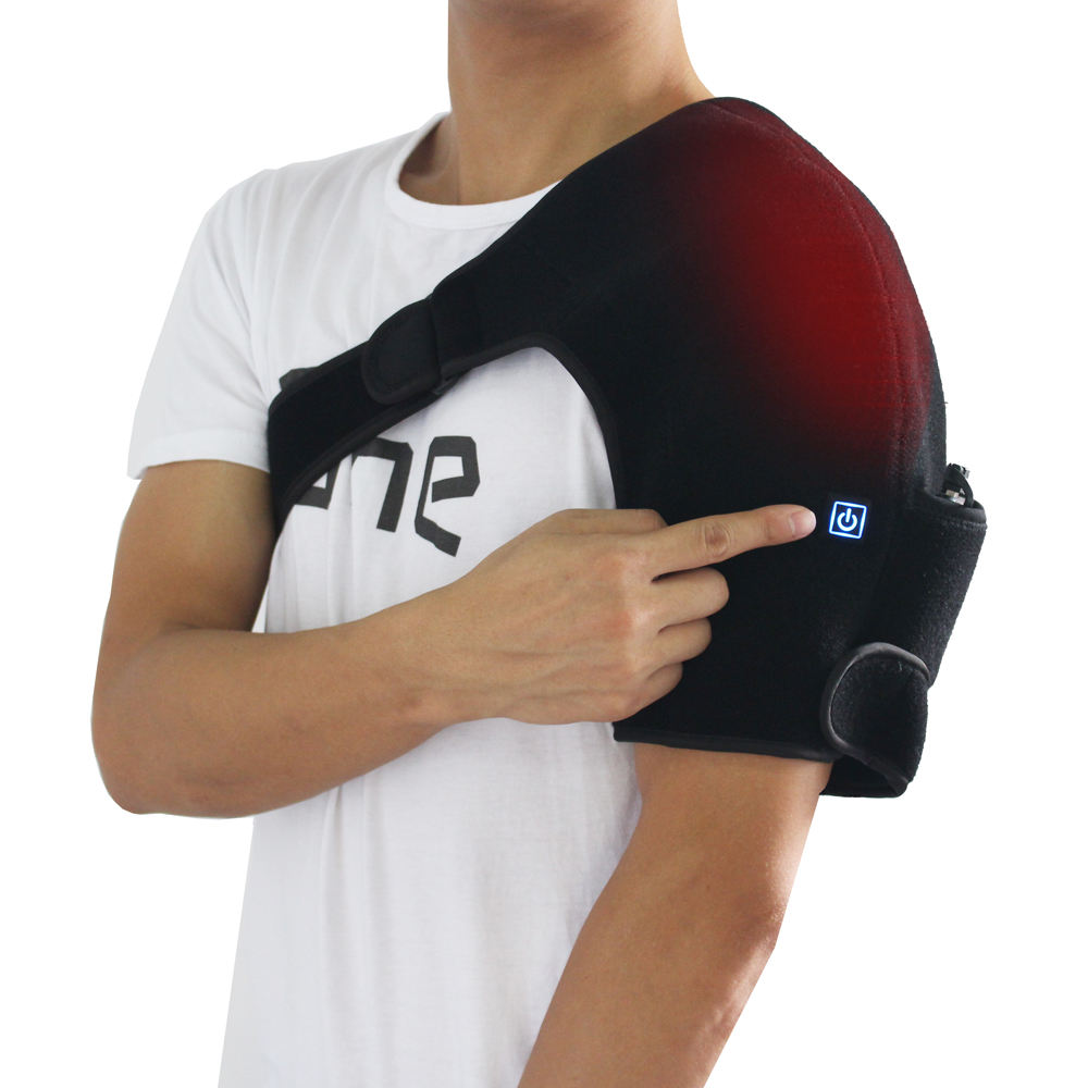 Electric Heat Therapy Brace Massager Far Infrared Shoulder Heating Pad for Pain Relief