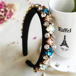 Bling Full Diamond Rhinestone Headband For Women Luxury Hairband Women Accessories