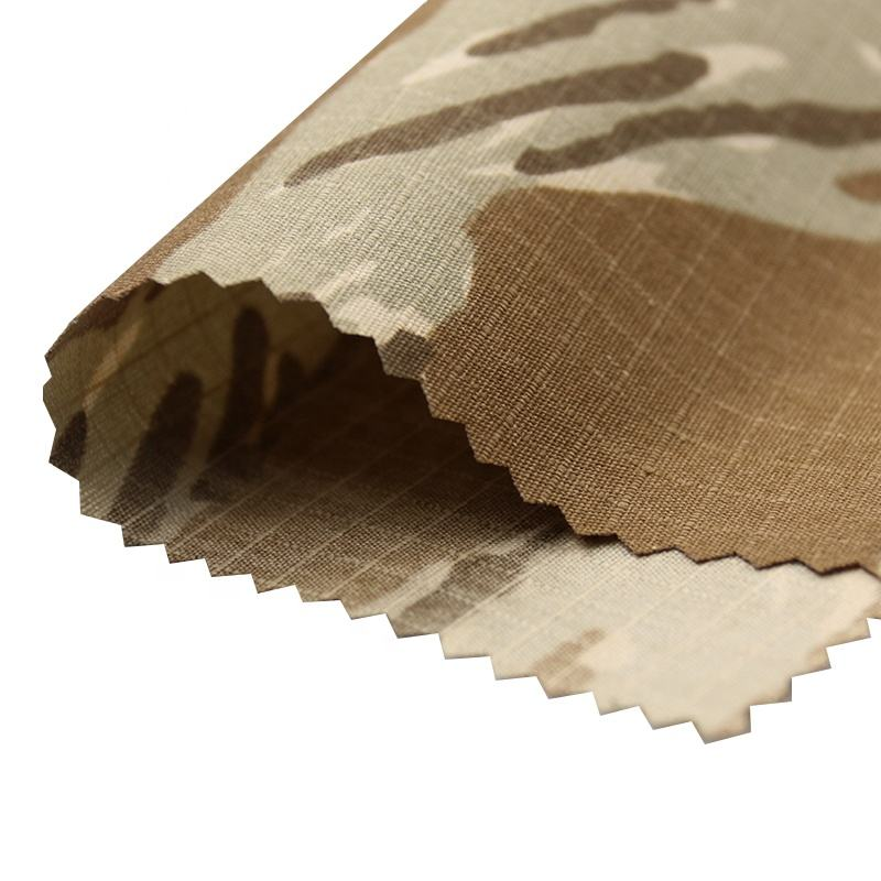 TC ripstop 0.5 65% polyester 35% cotton WR waterproof Desert tiger stripes camo fabric