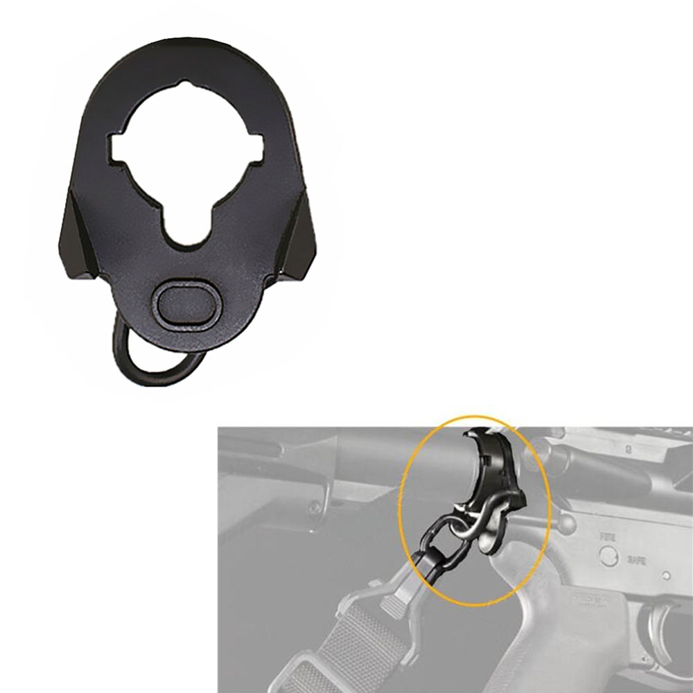 Tactical <span class=keywords><strong>Sling</strong></span> Swivel Adapter Airsoft AR15 M4 M16 AEG Ende Platte Montieren <span class=keywords><strong>Sling</strong></span> <span class=keywords><strong>Ring</strong></span> Für Jagd Zubehör