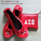 Wedding gift disposable flat foldable ballet shoes after party slipper