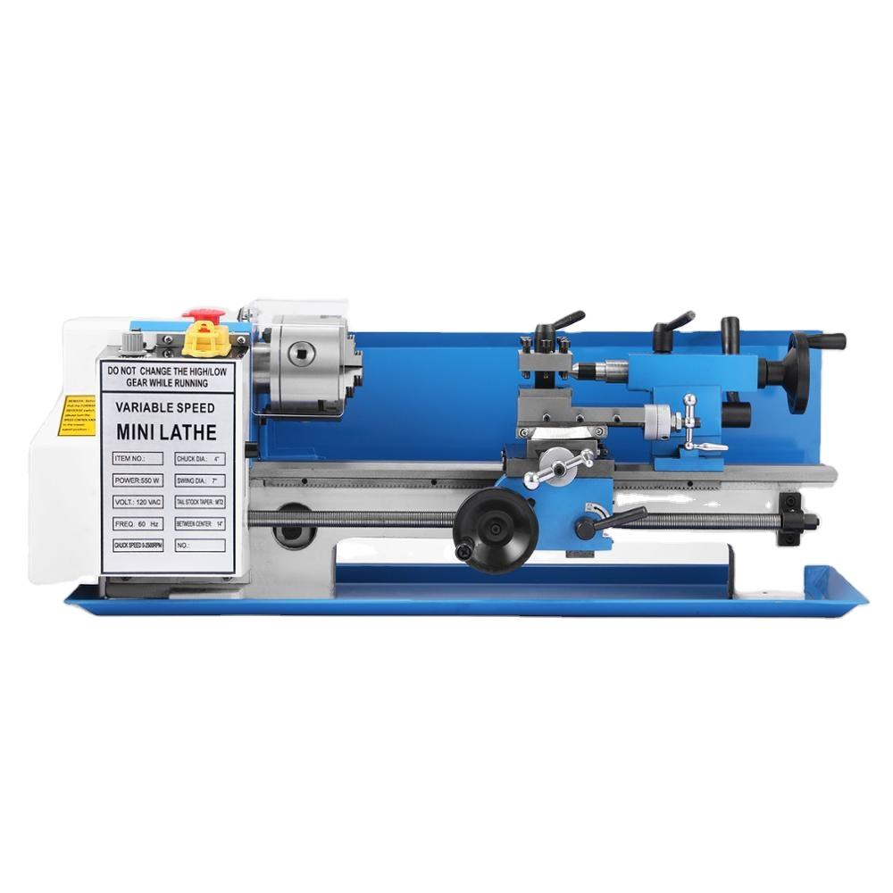 7*14 RPM Steady Rest Wood Metal Processing Digital Variable Speed Mini Metal Lathe Machine