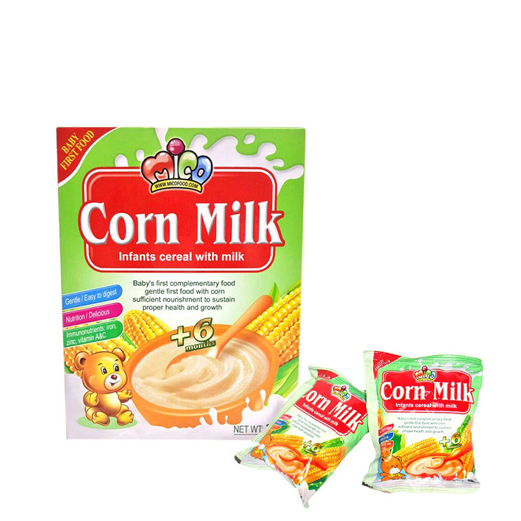 High quality box packaging corn milk baby infant cereal breakfast