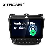 XTRONS Android 9.0 octa core touch screen car multimedia for honda accord with radio USB gps carautoplay