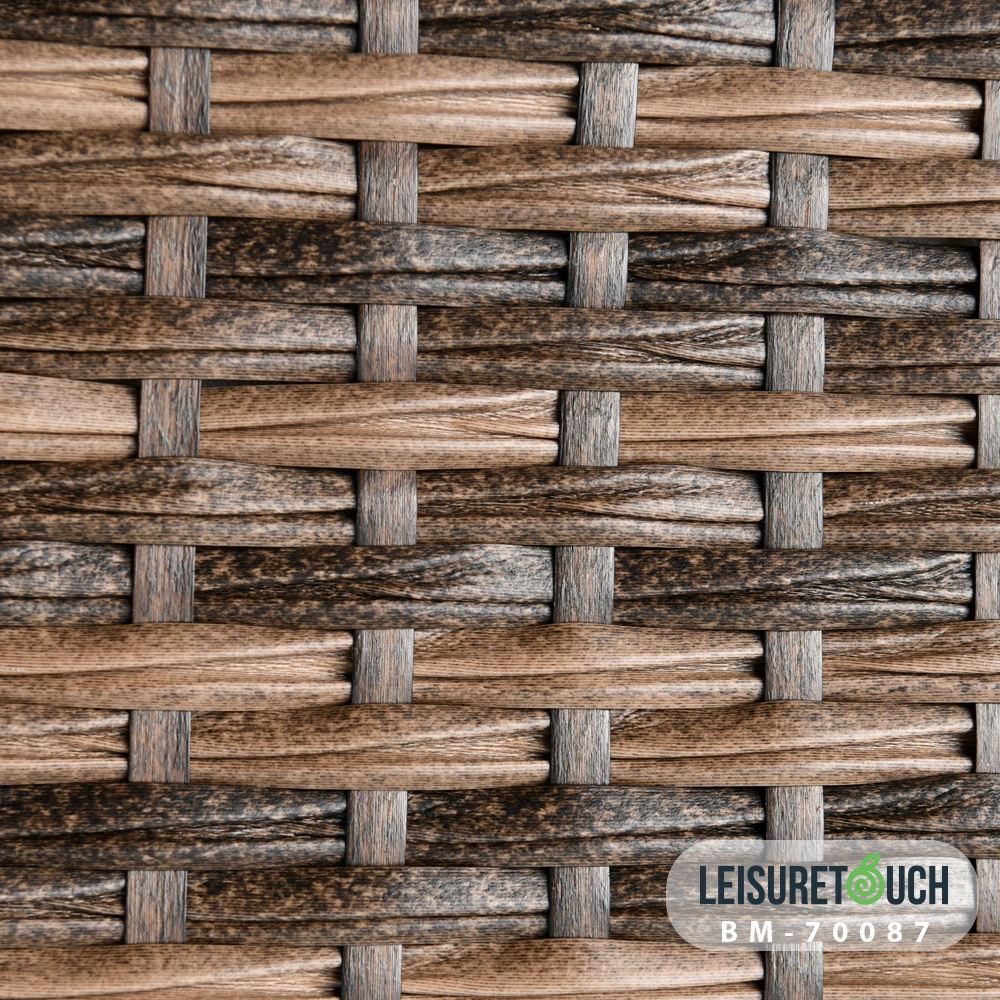PE ecológico tejido sintético de ratán de plástico tiras proveedores de muebles al aire libre
