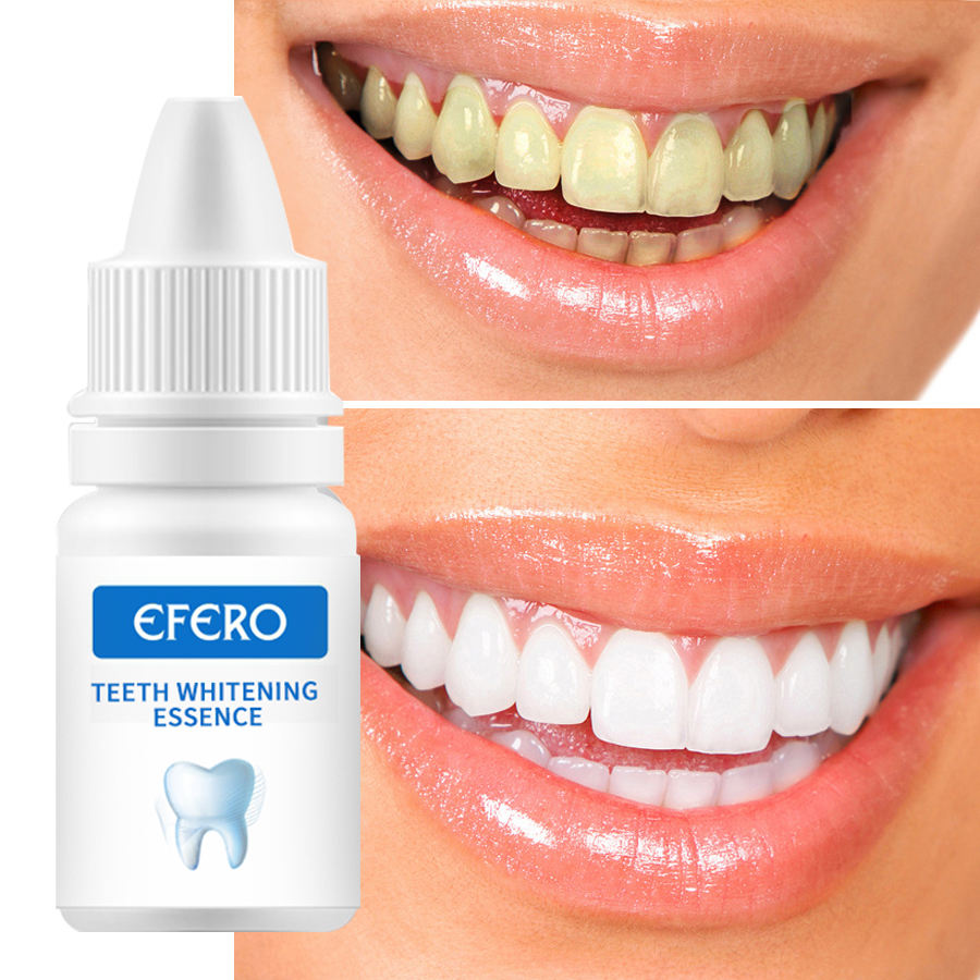 EFERO Oral Hygiene Cleaning Teeth Whitening Liquid Remove Plaque Dental Organic Tooth Whitening Teeth Whitening Gel