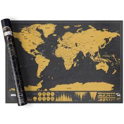 Wholesale Price World Map Large Black Gold Luxury Edition