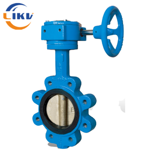 lever operated lug resilient seated butterfly valve