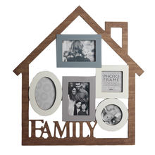 2019 Distressed Wood Family Collage Picture Photo Frame with Multi Photos for Living Room, Bedroom Home Decor