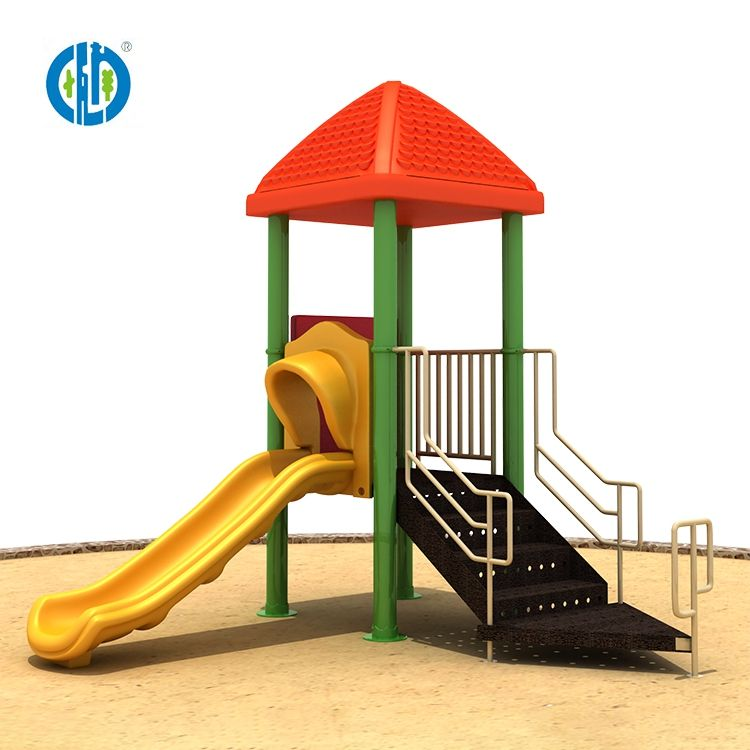 Small single slides for sale children games outdoor garden playground equipment