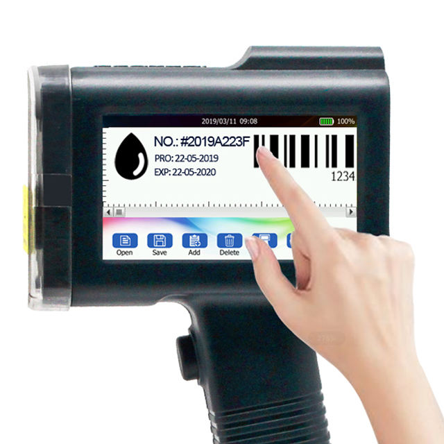 Portable Industrial Inkjet Coding Printer for Wood Plastic Bag Pipe Food Lot Number QR Code Printing Machine Original Patented