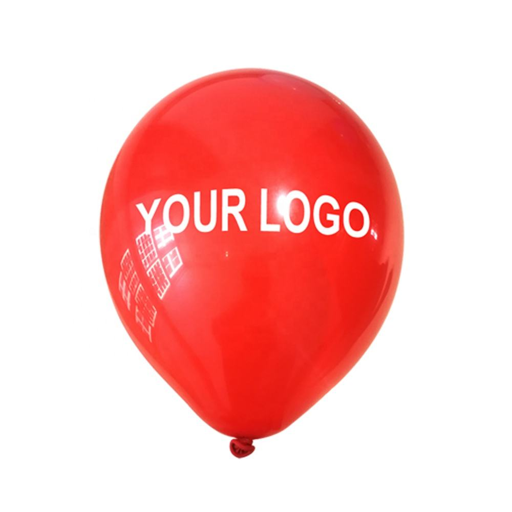 Latex Personalized Printed Logo Custom Helium Balloon Ballons with Logo Printing