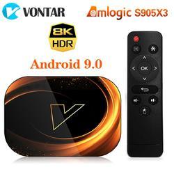 VONTAR X3 Android 9.0 Amlogic S905X3  4GB 64GB TV BOX 2.4G&5GHz Wifi 1000M Media Player Smart Box