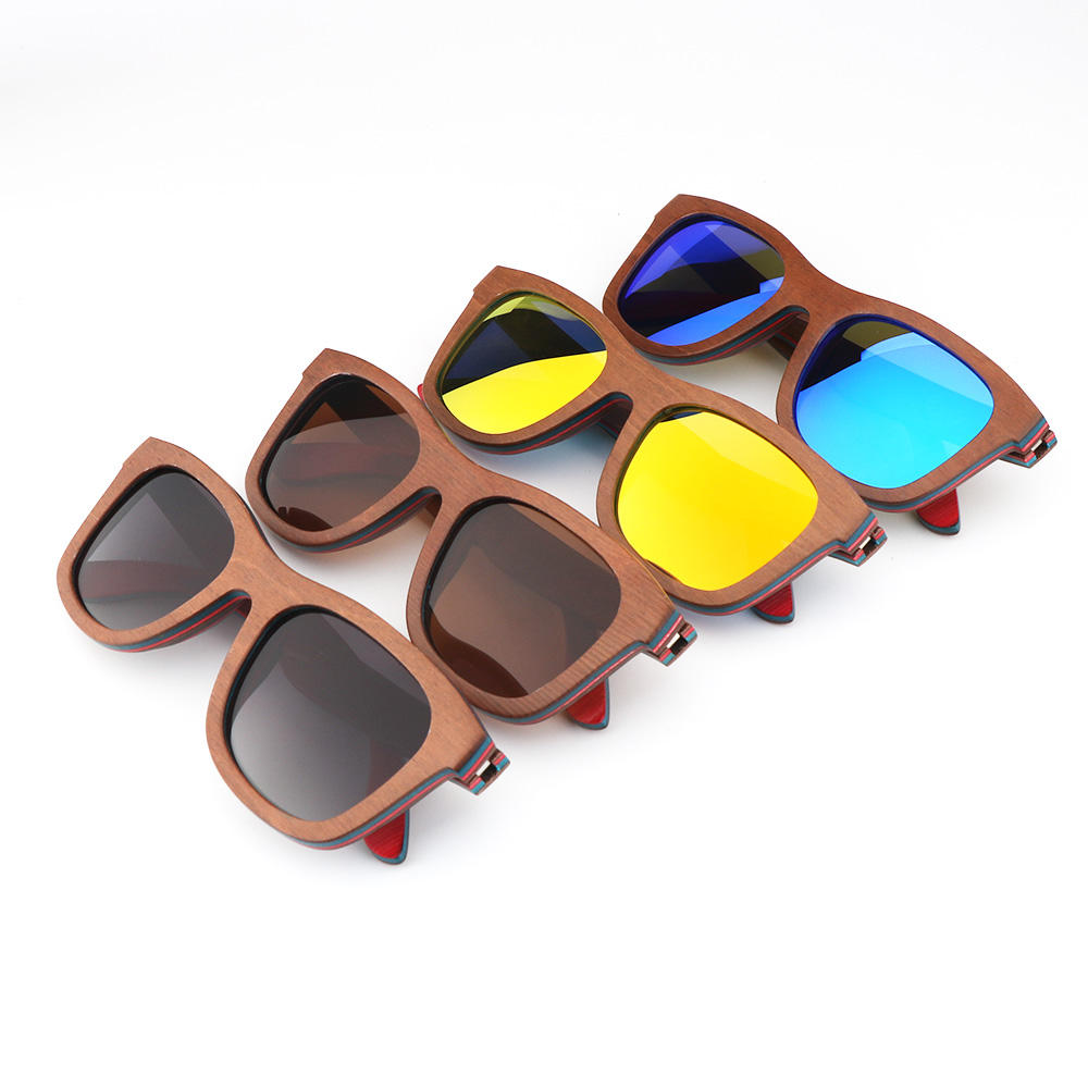 Outdoor Shade Brille China Bestseller Brown Holz Sonnenbrille