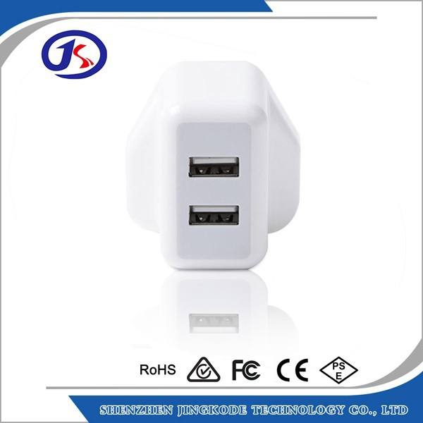 5V 2.1A UK Plug Wall USB Charger