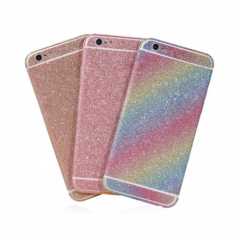 2017 Bling Decal Phone accessories for samsung galaxy s6 s7 full body glitter skin stickers for iphone 7 7 plus 6 6s plus