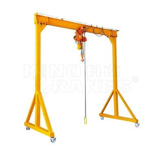 Hot Sales Kinocranes 0.5 1 2 3 5 10 ton fixed manual lifting mini Portable Gantry Cranes with chain hoist