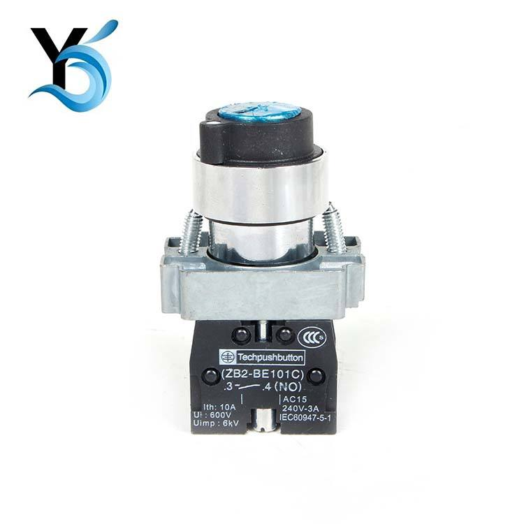 ZB2-BE101C Round blue button switch