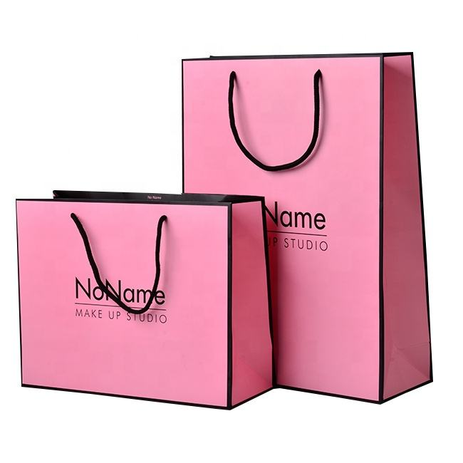 Luxury custom logo shoes men dresses women hand bags flat paper customized color design shopping paper bag