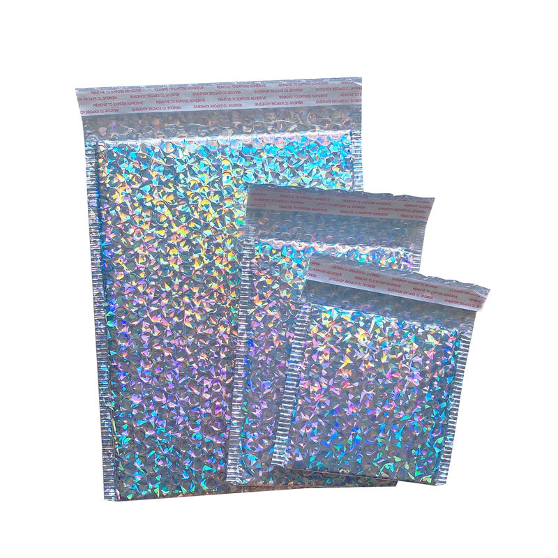Custom Printed Colored Aluminum Foil Bubble Mailing Bag Padded Envelope/Metallic Bubble Mailer