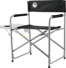 Promotional director folding camping chair with side table