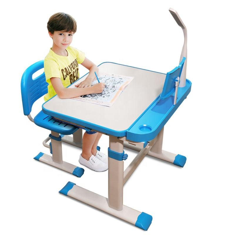 Low price children's table and chair height adjustable children's learning writing table