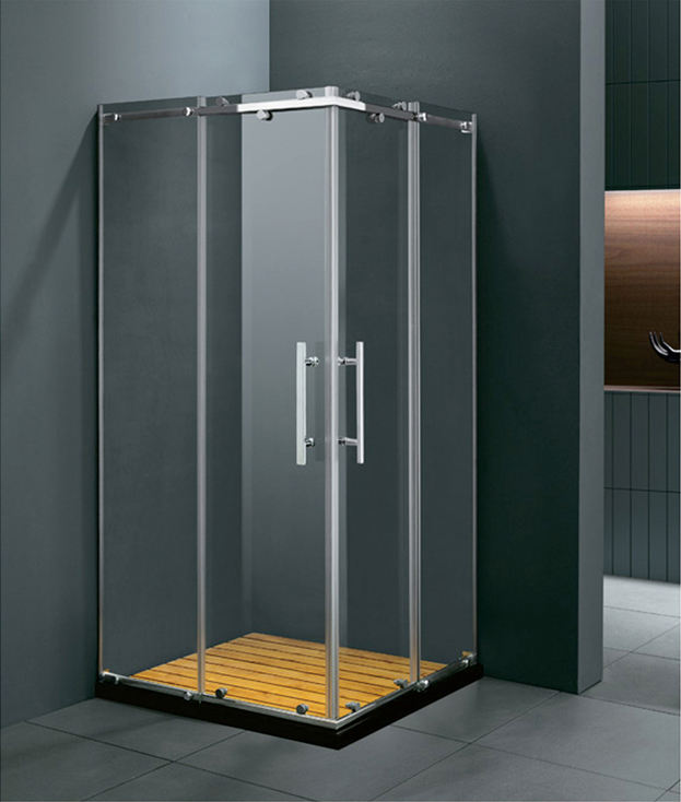 stainless steel two doors opening square tray shape shower enclosure