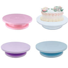 Colorful cake decorating table stable cake turntable diy pastry baking cake table
