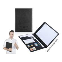 Wholesale A4 Business File Folder Resume Leather Portfolio Folder With Pen and Card Holder