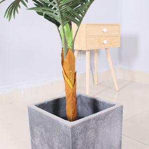 Excellent Quality Tropical Plants Artificial Palm Tree Plastic Bonsai Tree for Home Office Decor