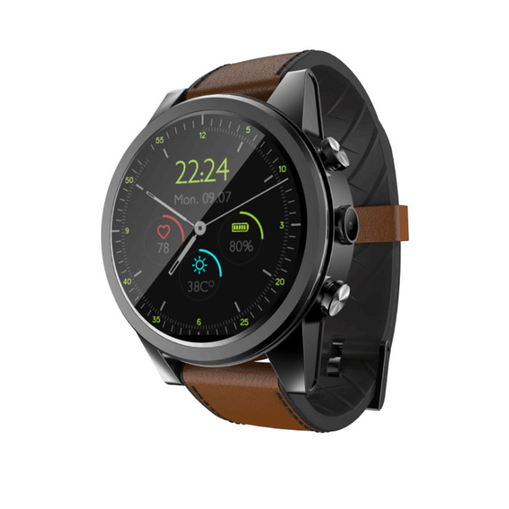 Round画面4G Smart Watch S360 Wrist GPS WIFI Heart Rate Monitor Android/IOS Camera 1 + 16 3 + 32GサポートSIM Card PKDM19