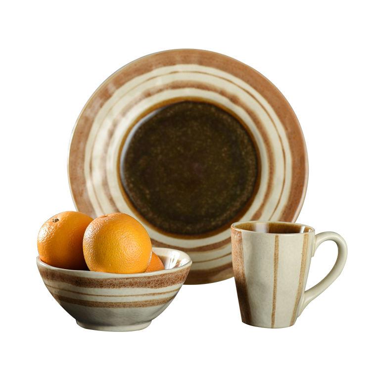 Moderno Nuevo diseño gres conjuntos de vajilla de cerámica vajilla cena pintado a mano <span class=keywords><strong>chino</strong></span> plato