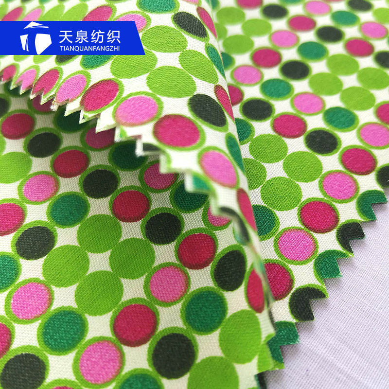 Dot design polyester microfiber shirting fabric pigment printing 50- 70gsm