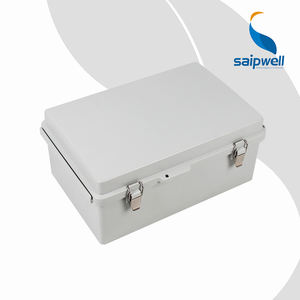 Saipwell Outdoor /Underway IP66 Anti-corrosion Project Box Polycarbonate Enclosure and Box with hinges and SS buckles