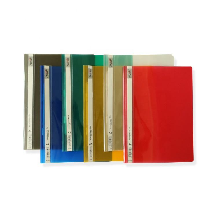 Office Stationery A4 Plastic Report Management File Cover Swing Clip Report File Folder