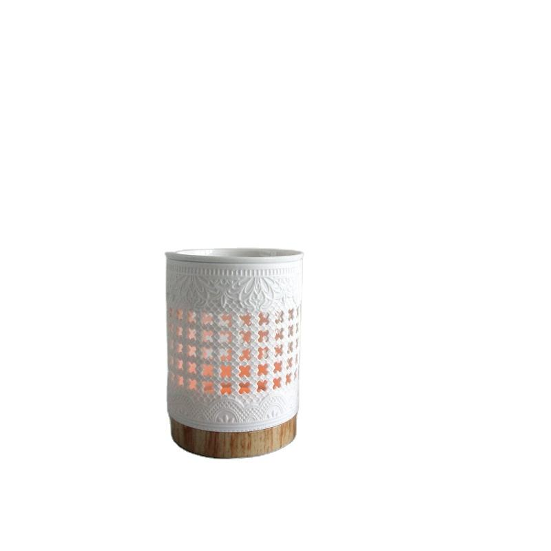 hollow out design ceramic essential oil burner candle burner