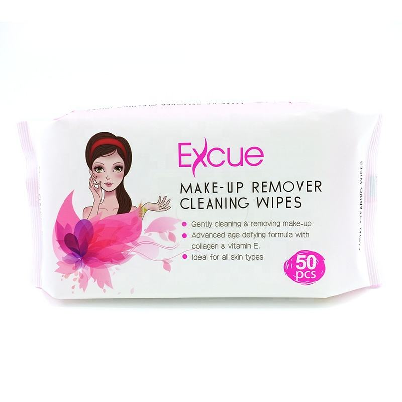 Women Make Up Remover Wipes Private Label Make-up Removal Wipes Facial Cleaning Color Eyeliner Wipes