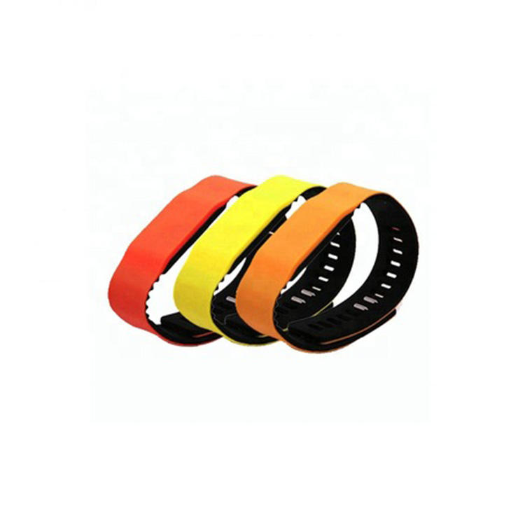 NXP Chip RFID Adjustable Double Sided Silicone Waterproof Wristband rfid