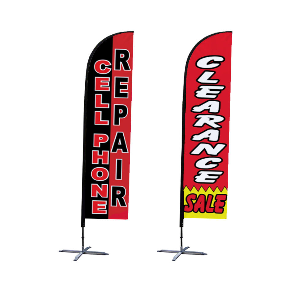 Double Sided Digital Print Wind Flying Customized Beach Flag With Pole Kit, Advertising Feather Flag/Teardrop Flag