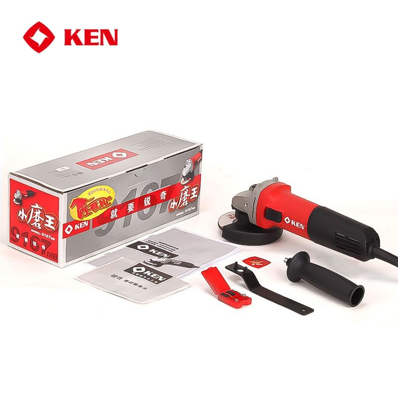 KEN 100mm 720W Professional Slim Design More Efficient and Druable Side Switch Electric Mini Motor Angle Grinder