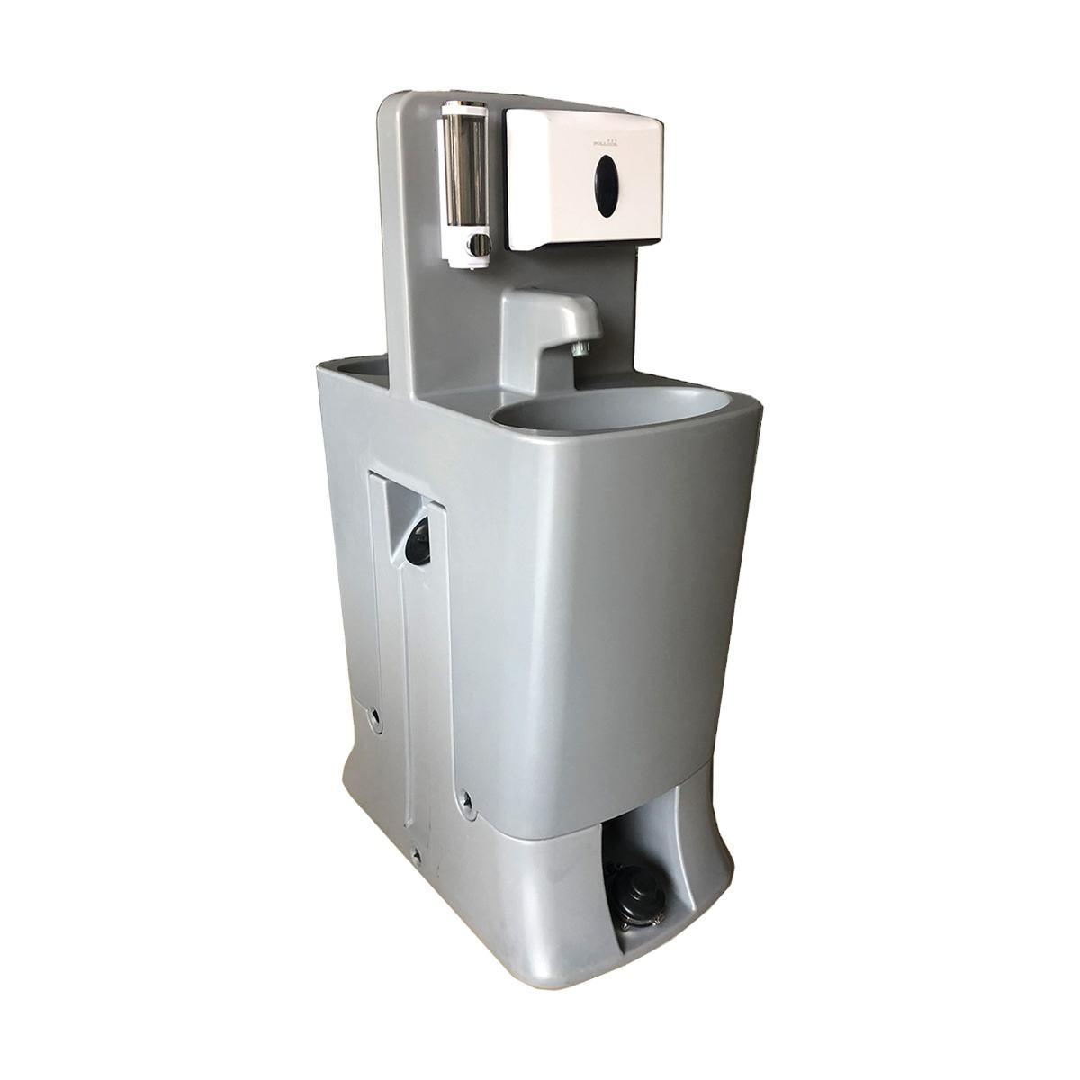 Al aire libre de plástico de HDPE móvil lavado a mano estación portátil lavabo fregadero con tanque