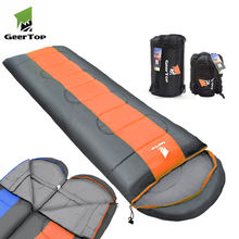 Geertop oem logo hut jack wolf skin modular mummy sleeping bag with storage sack