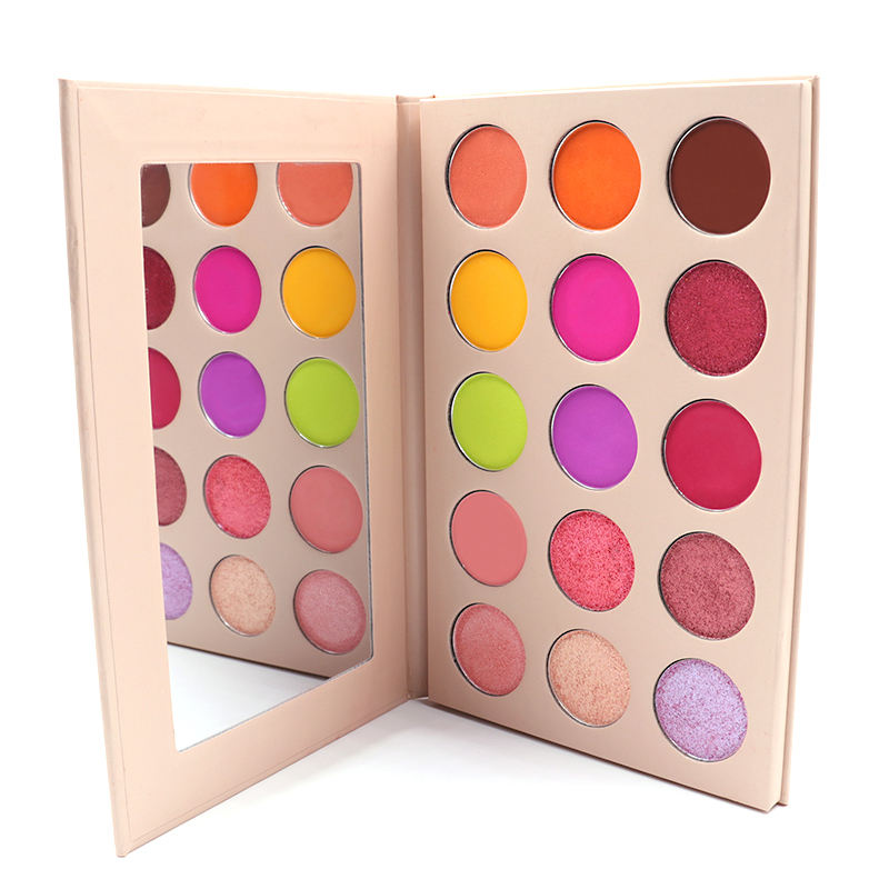 2020 beautiful wholesale 15 color shimmer matte eyeshadow eye shadow palette makeup set for girls
