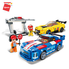 Qman Limit Emergency Maintenance racing car building blocks children toys for kids